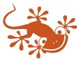 Unser Maskottchen, der Gecko